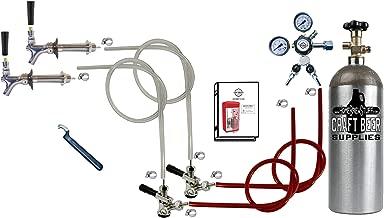 Standard Double Faucet Door Mount Kegerator Keg Tap Conversion Kit