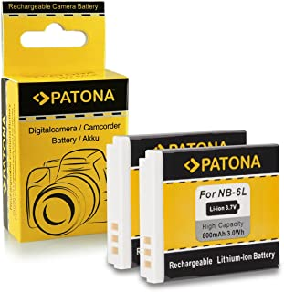 2x Batería NB-6L para Canon Digital Ixus 85 IS | 95 IS | 105 | 200 IS | 210 IS | 300 HS | 310 HS - Canon PowerShot D10 | D20 | S90 | S95 | SX240 HS | SX260 HS | SX270 HS | SX280 HS | SX500 IS