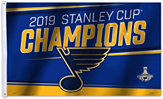 Fremont Die NHL St. Louis Blues Unisex NHL St. Louis Blues 2019 Stanley Cup Champions 3 x 5-Foot FlagNHL St. Louis Blues 2019 Stanley Cup Champions 3 x 5-Foot Flag, Team Colors, 3' X 5'