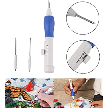 Kurtzy Punch Needle Tool Pen Kit Set for Embroider Craft Sewing with Usage Guidelines E-Book