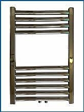 Radiador de baño Lidya, cromado, 600 x 600 mm, recto con conexión central