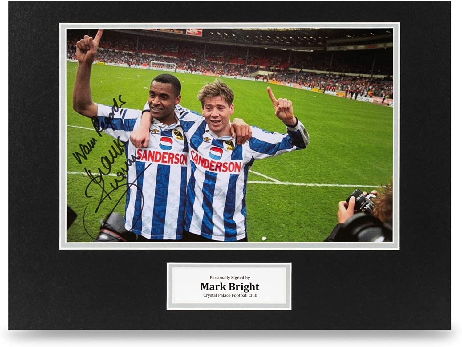 Mark Bright Signed 16x12 Photo Display Sheffield Wednesday Autograph Memorabilia