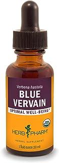 Herb Pharm Certified Organic Vervain Liquid Extract - Ounce Blue 1 Fl Oz