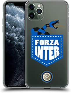 Official Inter Milan Forza Inter 2018/19 The Big Grass Snake Soft Gel Case Compatible for iPhone 11 Pro Max