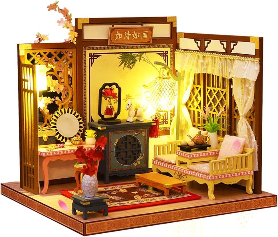 Roroom DIY Miniature and latest Furniture Max 86% OFF 3D Wooden Mini Kit Dollhouse