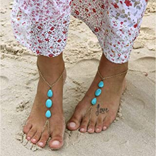 Fußkette Perlenkette Knöchel Kette Fußschmuck Zehe Ring Strand Schmuck