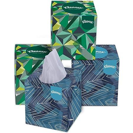 Kleenex Facial Tissue Box 60041B - Cube Box Facial Tissue - 4 Tissue Boxes x 80 White 2 Ply Facial Tissues - Sheet Size 20 x 20 cm(320 Tissues Total)
