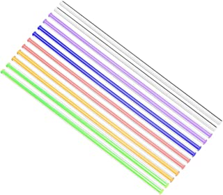uxcell Solid Acrylic Round Rod Straight Line PMMA Bar 6mmx250mm Multicolor 12Pcs
