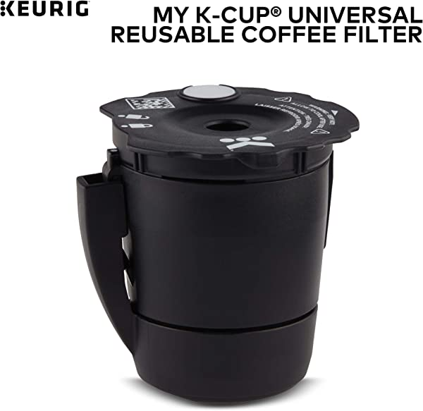 Keurig My K Cup Universal Reusable K Cup Pod Coffee Filter Compatible With All 2 0 Keurig K Cup Pod Coffee Makers 1 Count Black