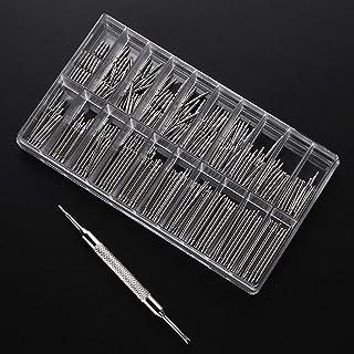 Kit de Réparation pour Bracelet de Montre,360 PCS Barres de Ressort de Bande en Acier Inoxydable avec 1 PCS Outil de Répar...