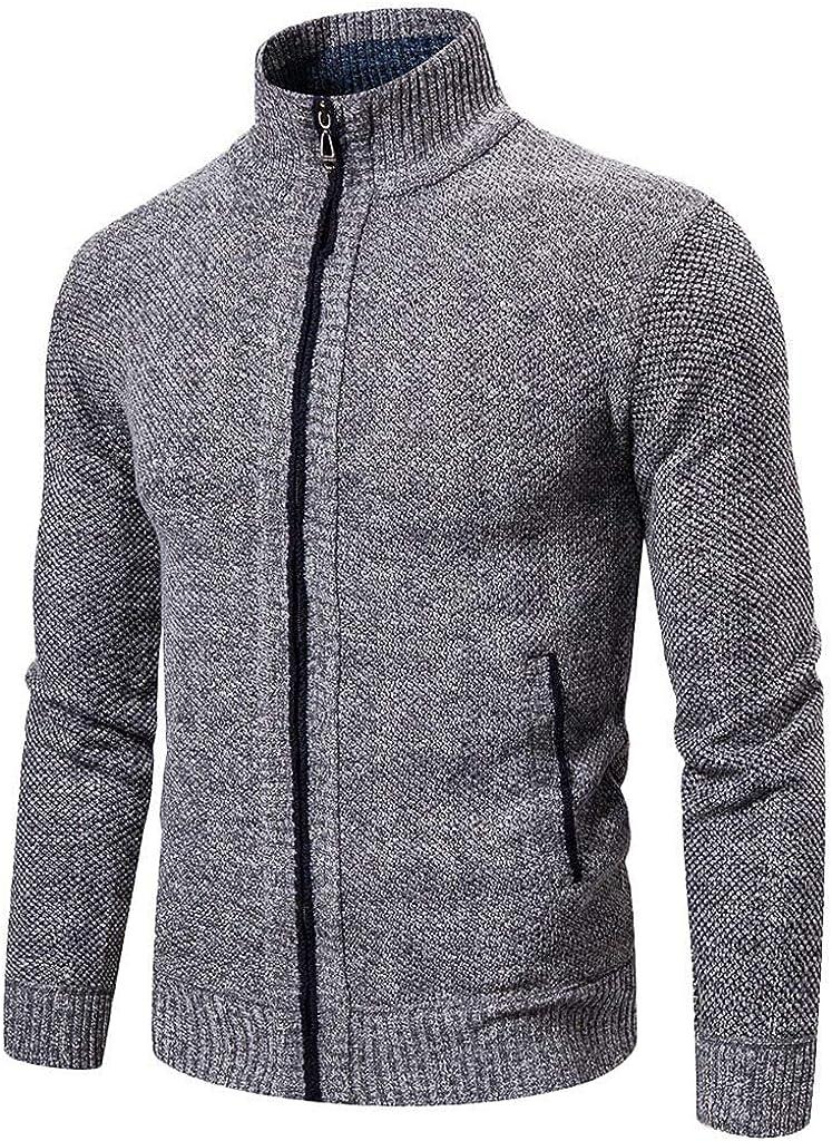 MODOQO Men's Knit Cardigan Sweater V Neck Long Sleeve Shawl Collar Button Jacket