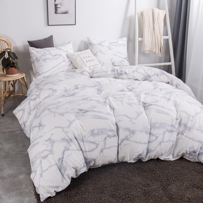 Under blast sales iyoimono 100% Cotton Duvet Cover Set Size Silver White Grey Twin Financial sales sale