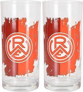Rot-Weiss Essen Logo drinkglas set van 2