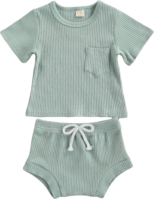 Vervocedenovo NewbornToddler Baby Boy Shorts Outfits Sunshine Sleeveless Tank Top Shorts Sets 2Pc Summer Clothes