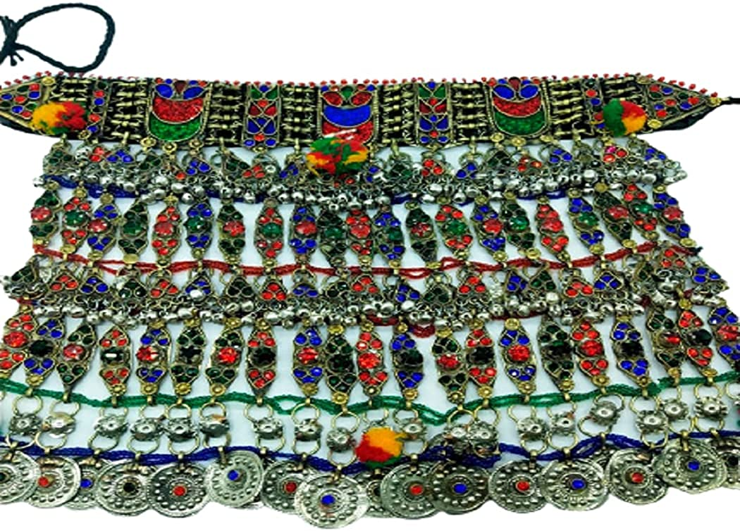 Afghan Multi Stone Beads Choker Tribal Multicolor Vintage Ethnic Necklace Boho Long Necklace Turquoise Necklace Ethnic Tribal Long Beaded Jewelry Antique Jewelry