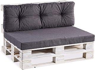 Coussins pour palettes, siège Lisse, Appui matelassé, Mousse PPF (Siège 120x60 Lisse, Anthracite)