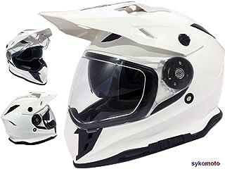 VIPER MOTO MOTOCROSS HELM RX-V288 OFF ROAD ECE GENEHMIGT RACING TRACK TRIALS INTEGRAL ENDURO TRAILS SPUR HELMET WEISS M 57-58 CM