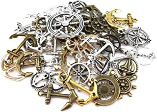 yueton?100 Gram (Approx 47pcs) Assorted DIY Antique Anchor Charms Pendant Craft Making Accessory (Anchor)