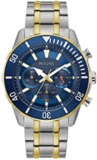 Bulova Men's Chronograph Quartz Watch with Stainless Steel Strap 98A246