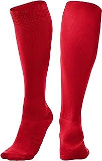 CHAMPRO Pro Socks, Single Pair, Adult Large, Scarlet