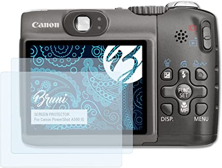2x Canon PowerShot sx130 is láminas protectoras de pantalla mate antirreflejos