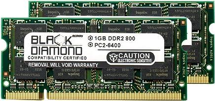 2GB 2X 1gbメモリRam for HP Pavilion Notebooksノートブックdv7–1010tx ddr2So - Dimm 200pin pc2–6400800MHzブラックダイヤモンドメモリモジュールアップグレード
