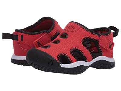 Keen Kids Stingray (Toddler) (Black/Fiery Red) Boy