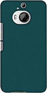 AMZER Slim Fit Handcrafted Designer Printed Hard Shell Case Back Cover for HTC One M9 Plus - Shaded Spruce Texture
