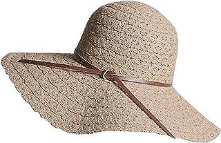 CHIC DIARY Damen Sonnenhut aus Spitze Breite Krempe Strandhut Faltbar Elegant Sommerhut UV Schutz Kappe f/ür Strand Outdoor Reise
