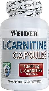 Weider L- Carnitina 1500.  Potente Quemagrasa (100 Cápsulas