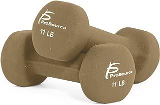 Prosource Fit Neoprene Dumbbell Coated Non-Slip Grip, 1 lb-12 lb
