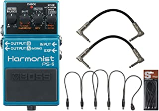 Boss PS-6 Harmonist Pitch Shifter Pedal w/ Daisy Chain Power Cable and (2) 6