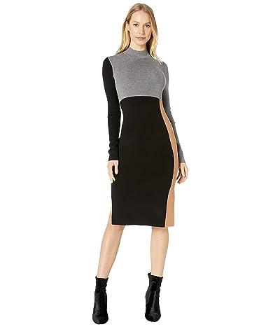 BCBGMAXAZRIA Color-Block Sweaterdress (Black Combo) Women