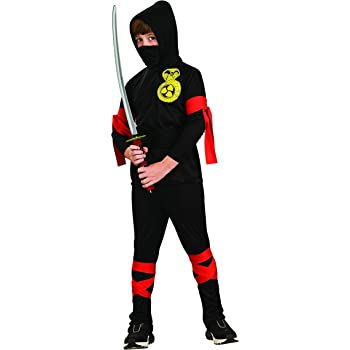 Rubies - Disfraz de ninja para niños, color negro, 8-10 años ...