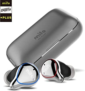 Mifo O5 Plus Wireless Earbuds IPX7 Waterproof Bluetooth 5 Earbuds with 100 Hours Playtime, APTX Hi-Fi Sound Wireless Headphones, Built-in Mic with 2600mAH Portable Charging Case (Grey)