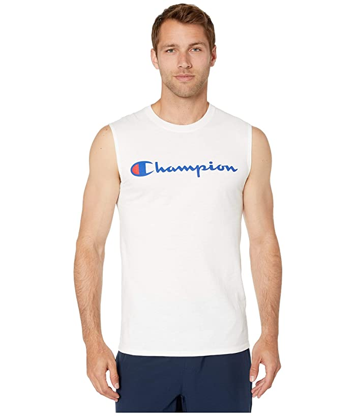 Champion Classic Jersey Graphic Muscle Tee (White) Men