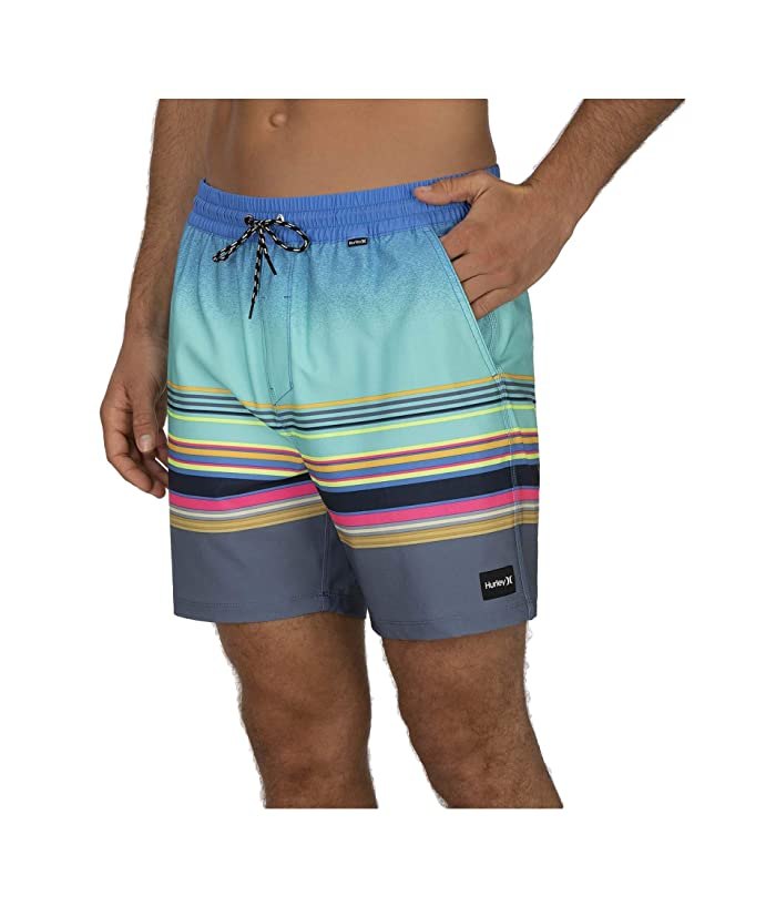 Hurley  17 Phantom Spectrum Volley Boardshorts (Aurora Green) Mens Swimwear
