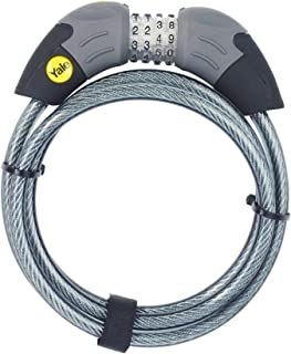 YALE YCC1/10/185/1 Standard Combination Cable Lock, Black