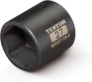 TEKTON 47779 1/2-Inch Drive by 27 mm Shallow Impact Socket, Cr-V, 6-Point