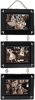 Disney Parks Mickey Icon Beveled Wooden 3 Linked 4x6 Photo Hanging Frames - Black Finish