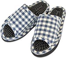 健康サンダル レディース O脚防止サンダル カラーチェック 婦人用フィットサイズ 約24cmまで 日本製 ブルー
