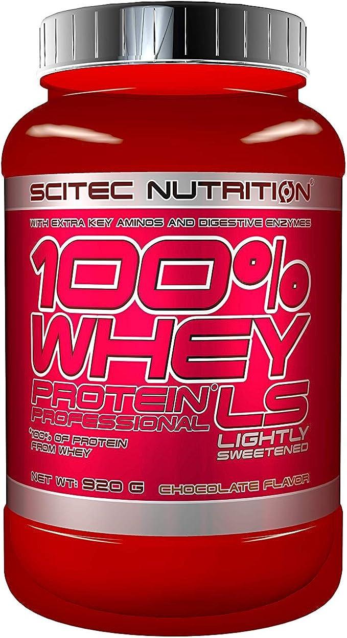 Scitec Nutrition 100% Whey Protein Professional Lightly Sweetened Proteína Ligeramente Endulzado Chocolate - 920 g