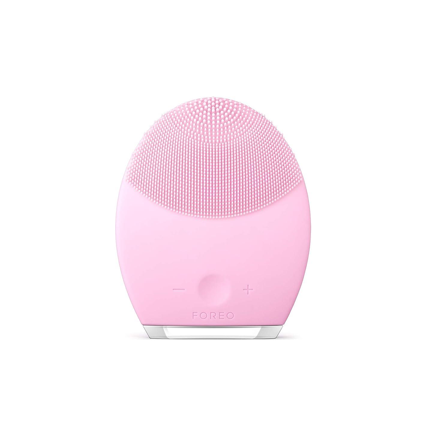 設計デイジー従事するFOREO LUNA 2 for ノーマルスキン 電動洗顔ブラシ シリコーン製 音波振動