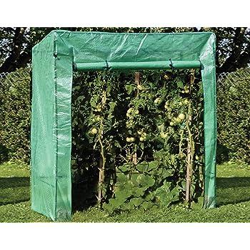 Tomaten Gewächshaus 200 x 77 cm Treibhaus Garten freistehend