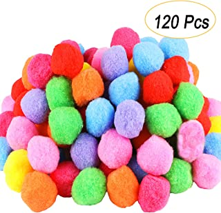 Pom Poms 300 Pieces 1 Inch Assorted Pompoms for Hobby Supplies and DIY Creative Crafts Decorations by VIDEOTORG