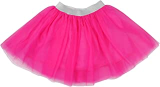 Girls Tutu Skirt, Summer Tulle Skirt Pure Color Layered Dress up Soft Lining 100% Cotton 2-12T