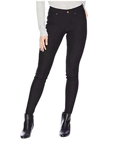 HUE Essential Denim Leggings (Black) Women