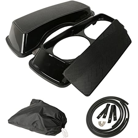 XMT-MOTO Saddlebag Lids W//Dual Speakers Harley Touring Electra Road Street Glide 1994-2013