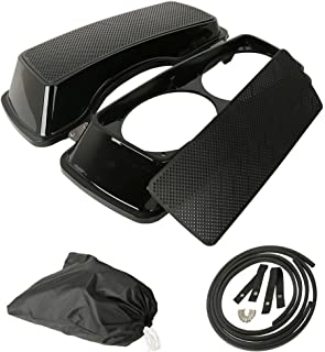 XFMT Dual 6x9 Speaker Lids Compatible with Harley Touring Saddlebag Road King Street Glide 1993-2013