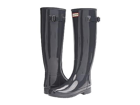 Hunter Original Refined Gloss Rain Boots, DARK SLATE